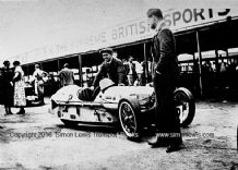 Morgan 3 wheeler Clive Lones at Brooklands 1932 Relay Race